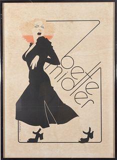 """Vintage Amsel """"Bette Midler"""" Poster"""