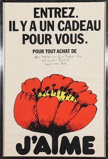 "Jill & John Fairchild ""J'aime"" Signed Poster"