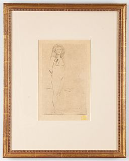 "Charles Maurin ""A L'Ami Simonet"" Drypoint Etching"