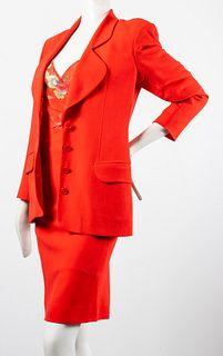 Avant Garde Wool Skirt Suit W Vivienne Tam Top