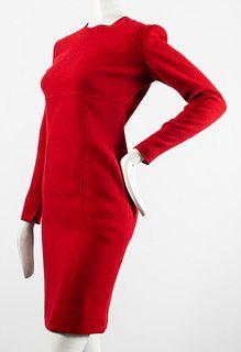 Calvin Klein Long-Sleeved Wool Blend Dress
