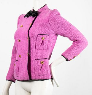 Adolfo Twinset Wool Blazer & Silk Tank Top