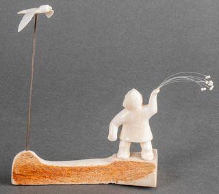S. Seeganna Inuit Carved Figural Sculpture