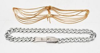 Christian Dior Accessocraft Vintage Chain Belts, 2