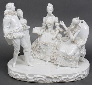Sandizell Dresden Type Lace Porcelain Group