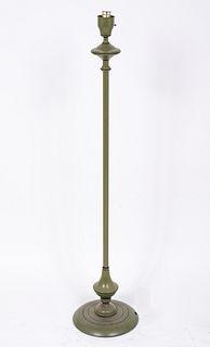 Mid-Century Green Toleware Floor Lamp