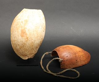 Papua New Guinea Mendi Bailer Shell Necklaces, 2