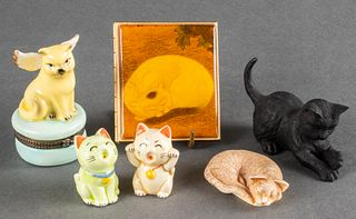 Assortment of Cat Figures & Objects, 6