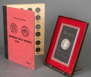 US Mint Jefferson Nickels & Eisenhower Dollar