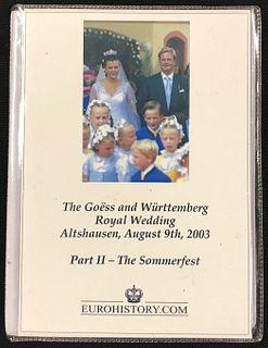 Photo Album, The Goess and Wurttemberg Royal Wedding,