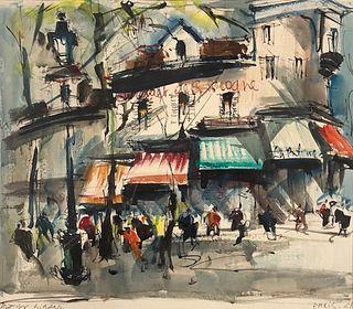 Marilyn Linard Watercolor Painting /Paris 1962