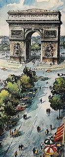 Vintage Framed Raphael Print of Paris
