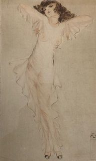 Signed Austrian artist Vala moro Etching C. 1924