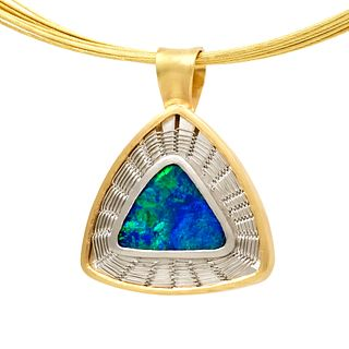 Blue Green Opal Necklace