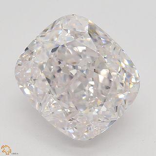 3.09 ct, Lt. Pink/IF, Cushion cut Diamond