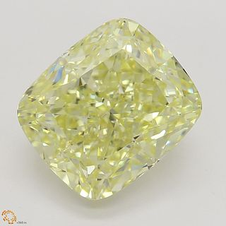3.02 ct, Yellow/VS2, Cushion cut Diamond