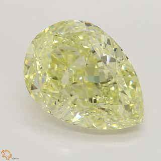 15.02 ct, Lt. Yellow/VS2, Pear cut Diamond