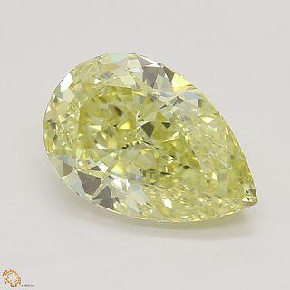 1.90 ct, Intense Yellow/VVS1, Pear cut Diamond