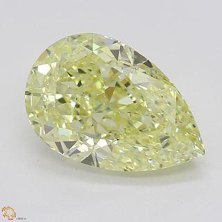 2.01 ct, Yellow/VVS1, Pear cut Diamond
