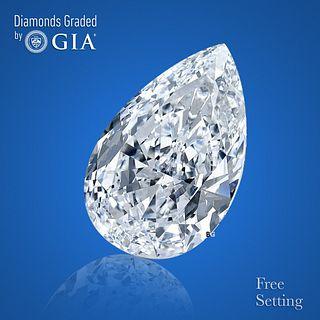 3.08 ct, Color D/FL, Pear cut Diamond