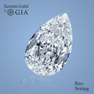 3.01 ct, Color E/VVS1, Pear cut Diamond