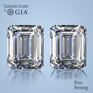4.72 ct Emerald cut Diamond Pair