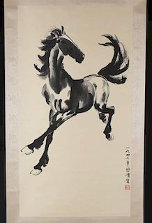 Ink painting of horse after Xu Beihong