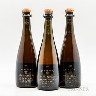 Henri Giraud Fut de Chene Brut 1996, 3 bottles