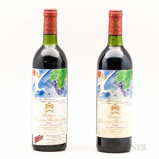 Chateau Mouton Rothschild 1982, 2 bottles