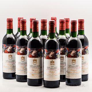 Chateau Mouton Rothschild 1985, 12 bottles