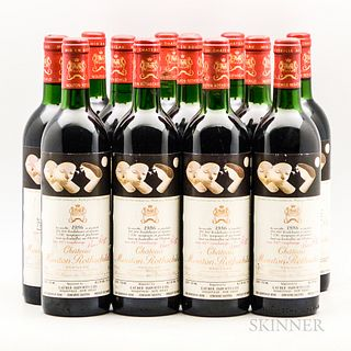 Chateau Mouton Rothschild 1986, 12 bottles