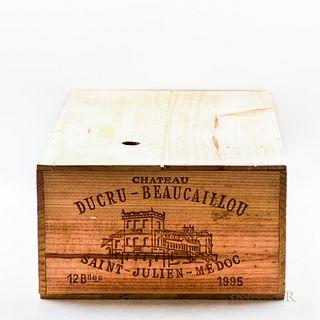 Chateau Ducru Beaucaillou 1995, 12 bottles (owc)