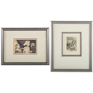 Renoir and Forain. Two Restrike Etchings