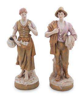 A Pair of Royal Dux Porcelain FIgures
