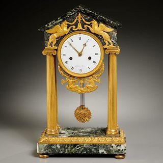 Chopin a Paris, French Empire marble portico clock
