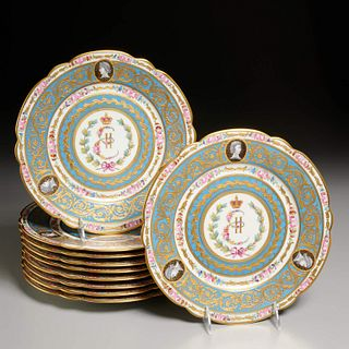Set (10) Catherine the Great cabinet plates