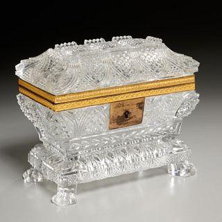 Nice Baccarat (attrib) cut crystal box