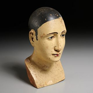 Antique Spanish Colonial carved Santo bust