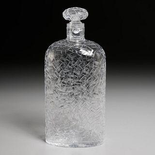 Stevens & Williams modernist glass decanter
