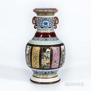 Fencai   Enameled Porcelain Vase