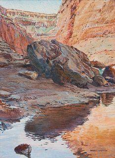 Merrill Mahaffey (American, b. 1937) Boulder Visitor (Grand Canyon Series), 1993