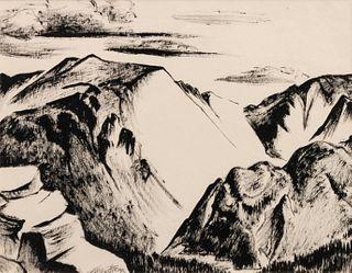 Virginia True (American, 1900-1989) New Mexico Landscape #2