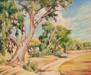 Joseph Imhof (American, 1871-1955) Cottonwoods
