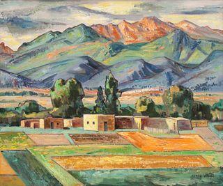 Alfred Wands (American, 1907-1998) Adobe Landscape