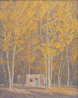 Carl Woolsey  (American, 1902-1965) Among the Aspens