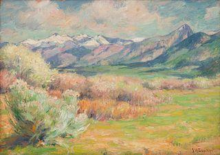 Joseph Henry Sharp (American, 1859-1953) Wild Plum Blossoms (Spring in Taos)