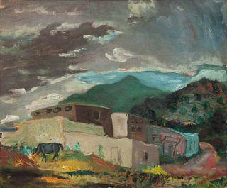 Beatrice Mandelman (American, 1912-1998) Taos Valley