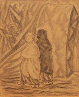 Emil Bisttram (American, 1895-1976) Taos Woman