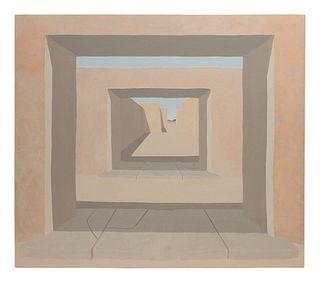 Ron A. Robles (American, 1937-2012) Adobe Interior