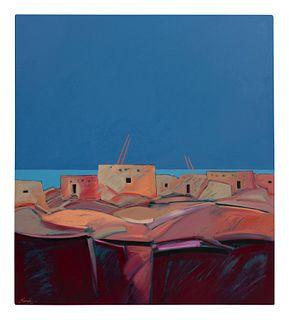 Dan Namingha (Hopi/Tewa, b. 1950) Hopi Village, 1986